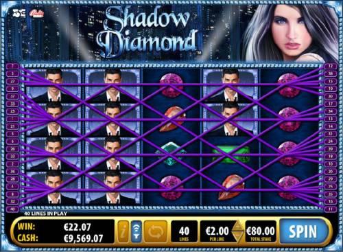 Shadow Diamond Big Bonus Slots Multiple winning paylines triggers a big win!
