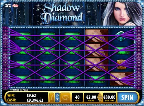 Shadow Diamond Big Bonus Slots Multiple three of a kind and four of a kind triggers a big win