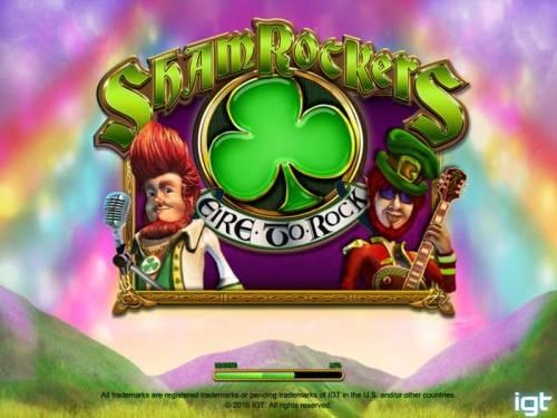 Shamrockers Eire To Rock Big Bonus Slots Splash screen - game loading
