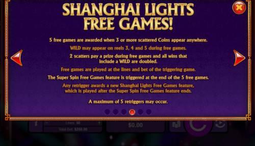 Shanghai Lights Big Bonus Slots Free Game Rules