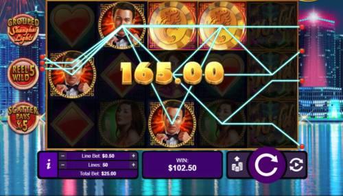 Shanghai Lights Big Bonus Slots Multiple winning paylines triggers a big win