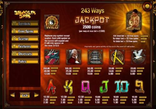 Shaolin Spin review on Big Bonus Slots