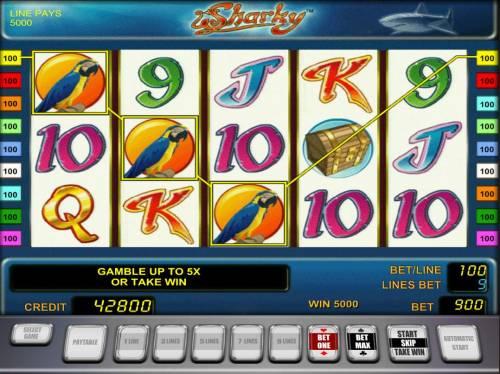 Sharky review on Big Bonus Slots