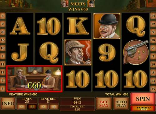 Sherlock Mystery review on Big Bonus Slots