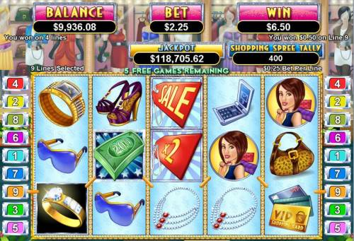 Shopping Spree II review on Big Bonus Slots