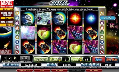The Silver Surfer review on Big Bonus Slots