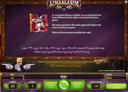 Simsalabim review on Big Bonus Slots