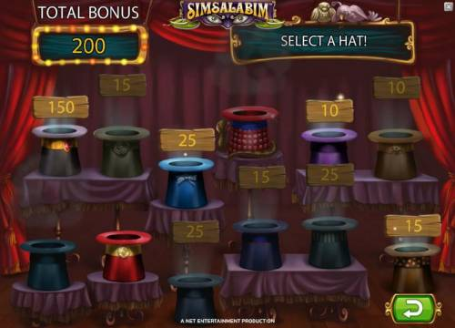 Simsalabim Big Bonus Slots we collected 200 coins before bonus game play ended