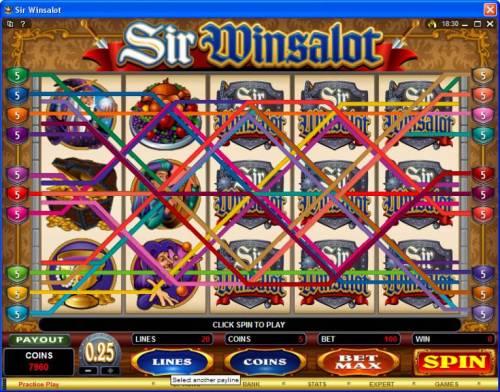 Sir Winsalot review on Big Bonus Slots