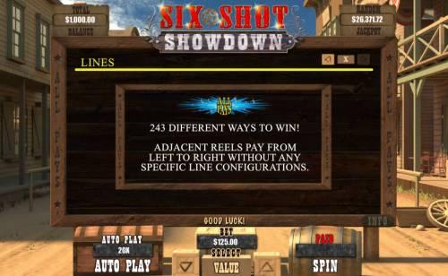 Six Shot Showdown review on Big Bonus Slots