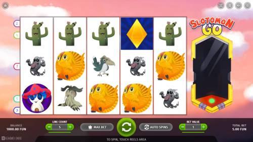 Slotomon Go Big Bonus Slots Main Game Board