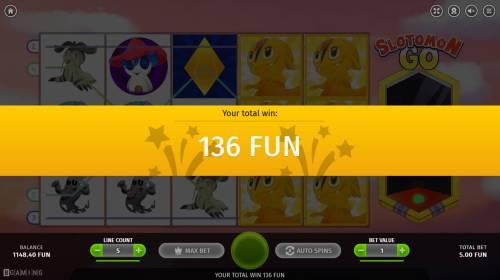 Slotomon Go Big Bonus Slots Total Free Spins Payout