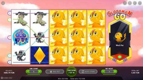 Slotomon Go Big Bonus Slots Multiple winning paylines triggers a big win