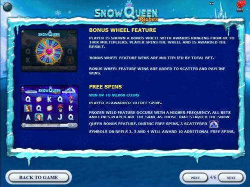 Snow Queen Riches review on Big Bonus Slots