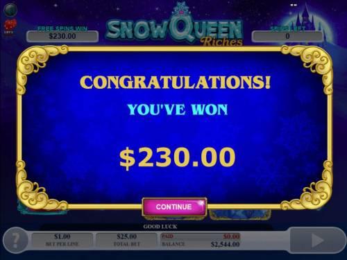 Snow Queen Riches review on Big Bonus Slots