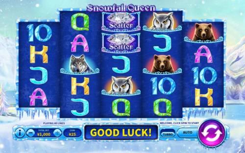 Snowfall Queen Big Bonus Slots Main Game Board