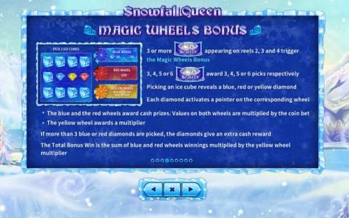 Snowfall Queen Big Bonus Slots Magic Wheels Bonus