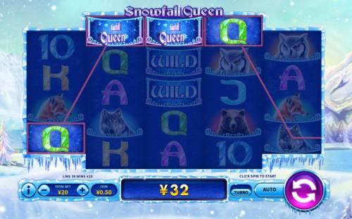 Snowfall Queen Big Bonus Slots Multiple winning paylines