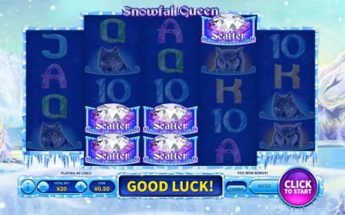 Snowfall Queen Big Bonus Slots Bonus Feature Activated