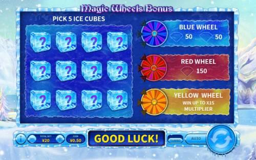 Snowfall Queen Big Bonus Slots Pick 5 ice cubes