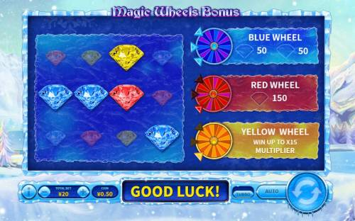Snowfall Queen Big Bonus Slots Bonus selections completed
