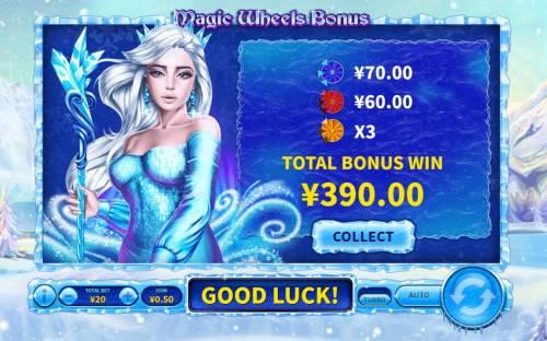 Snowfall Queen Big Bonus Slots A 390 total bonus payout