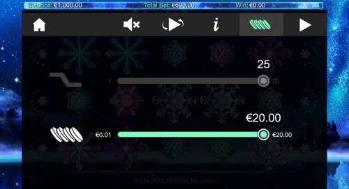 Snowflakes Big Bonus Slots Click on the side menu button to adjust the Lines or Coin Size.