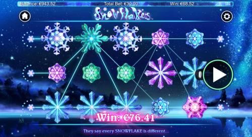Snowflakes Big Bonus Slots Multiple winning paylines triggers a big win!