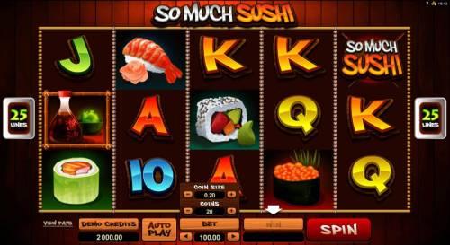 So Much Sushi review on Big Bonus Slots