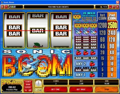 Sonic Boom review on Big Bonus Slots