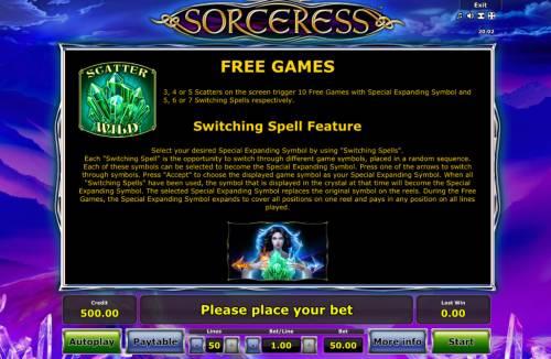 Sorceress review on Big Bonus Slots