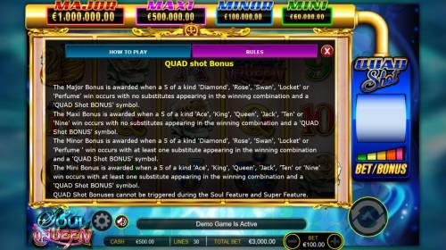 Soul Queen Quad Shot review on Big Bonus Slots