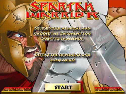 Spartan Warrior Big Bonus Slots Bonus Game - Defeat the opponent and earn coins.