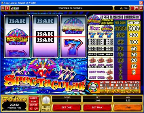 Spectacular Big Bonus Slots