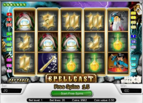 Spellcast review on Big Bonus Slots