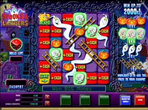 Spooks & Ladders review on Big Bonus Slots