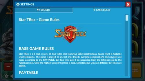 Star Trex review on Big Bonus Slots