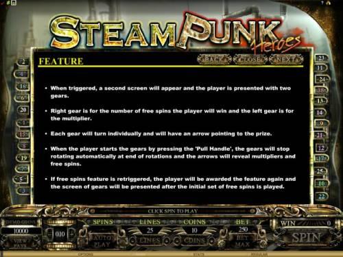 Steam Punk Heroes review on Big Bonus Slots