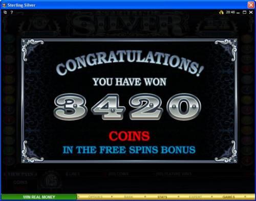 Sterling Silver Big Bonus Slots