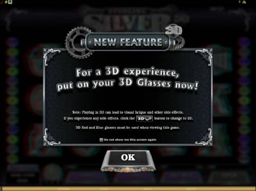 Sterling Silver 3D review on Big Bonus Slots