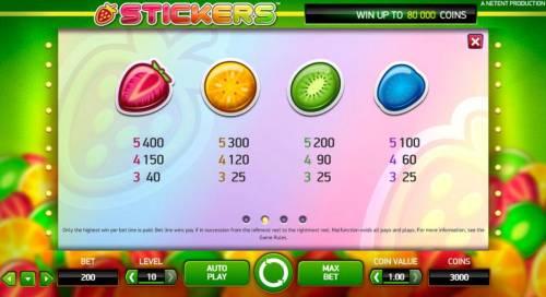 Stickers review on Big Bonus Slots