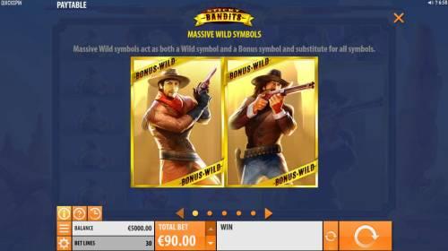 Sticky Bandits Big Bonus Slots Massive Wilds Symbols Rules