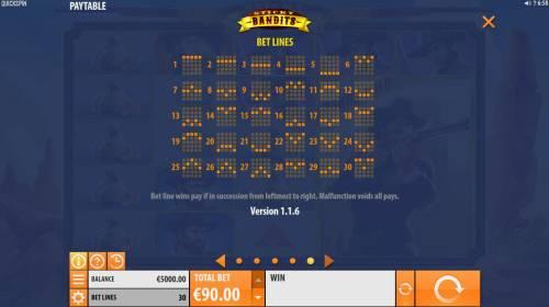 Sticky Bandits Big Bonus Slots Bet Lines 1-30