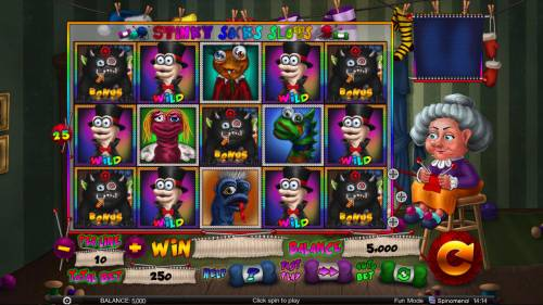 Stinky Socks Slots Big Bonus Slots Main Game Board