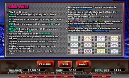 Street Fighter review on Big Bonus Slots