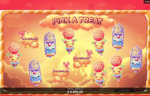 Sugar Parade Big Bonus Slots Sleceting balloons reveals a cash prize