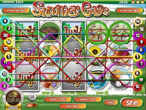 Summer Ease review on Big Bonus Slots