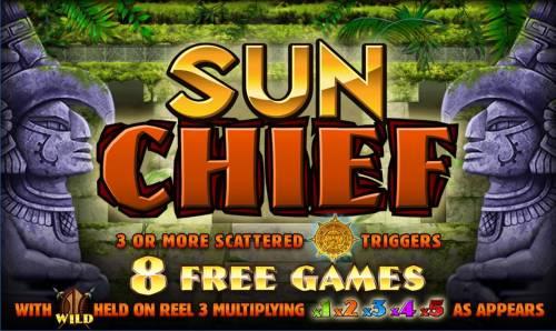 Sun Chief Big Bonus Slots Splash screen - game loading