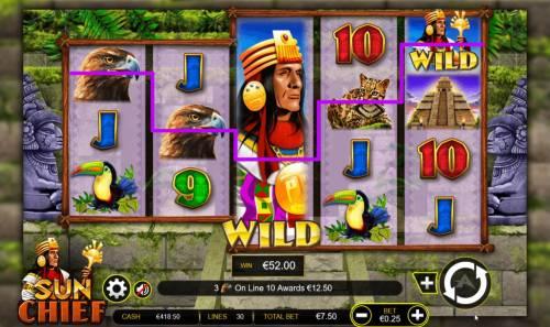 Sun Chief Big Bonus Slots Stacked wild symbol