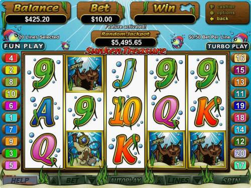 Sunken Treasure review on Big Bonus Slots